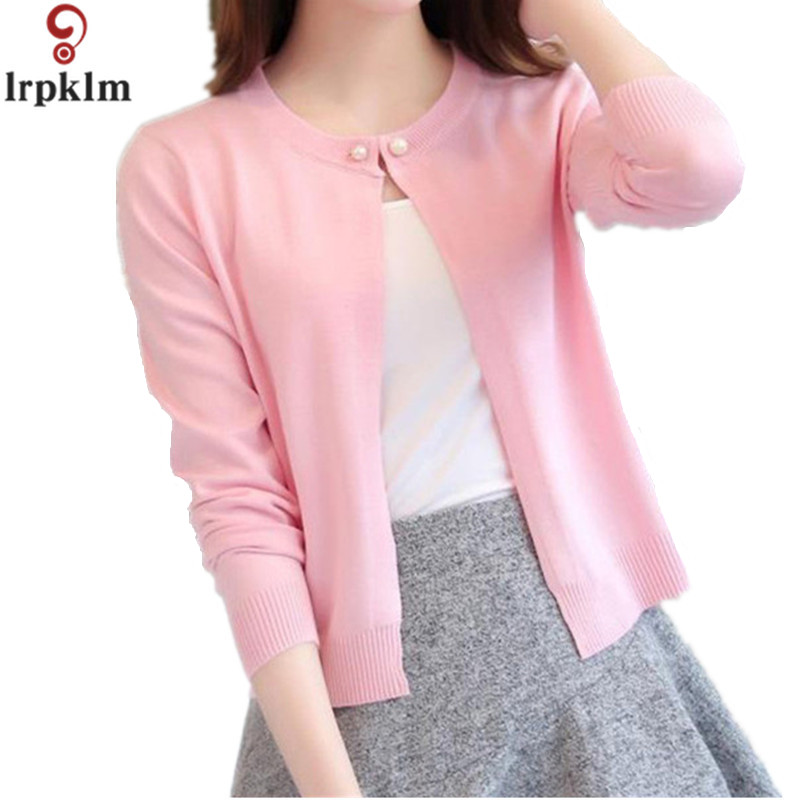 2020 Hot Sale Girl Women Slim O Neck Knitted Cardigan Cropped Cardigan Sweaters Ladies Solid Shrugs For Women Short Cardigans