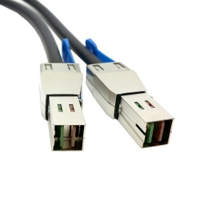 купить 10pcs/lot External Mini SAS HD 4x SFF-8644 to mini sas High Density HD SFF-8644 data server Raid Cable 100cm, By Fedex недорого