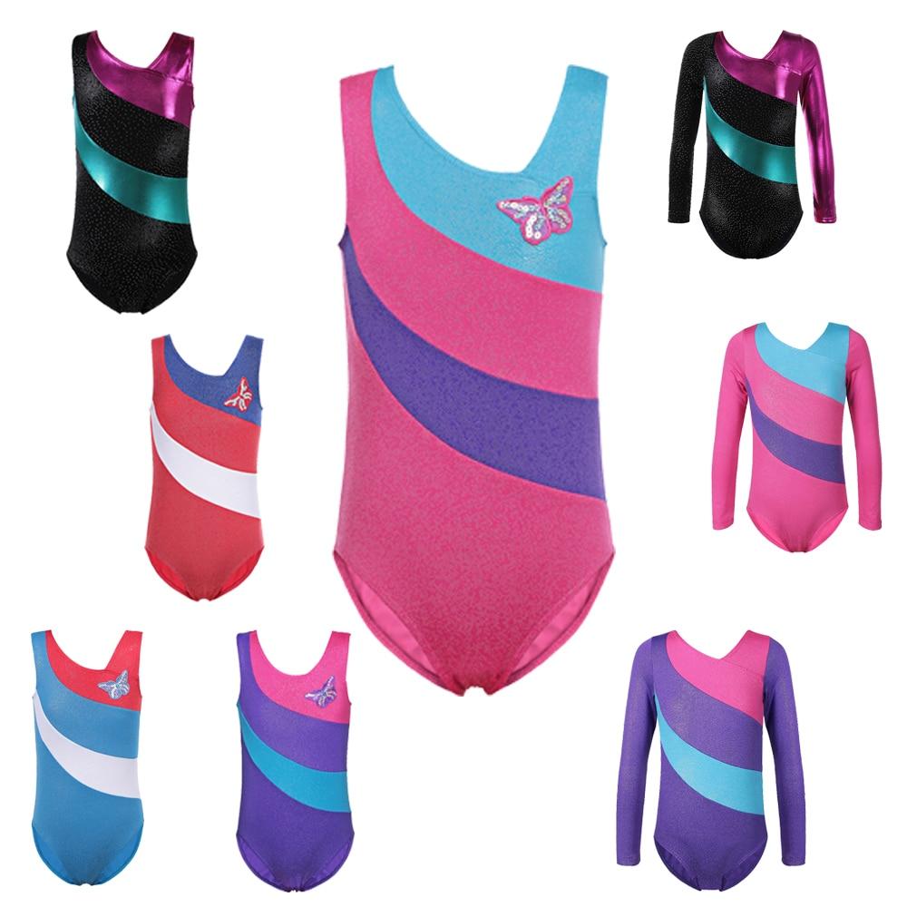1a7ed0027477 BAOHULU Toddler Youth Girls Sparkly Gymnastics Leotards Ballet Dress ...