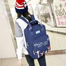 цены Fashion Backpack For School Teenagers Girls Cartoon Embroidery Bookbag Lady Casual Travel Laptop Knapsack Female Mochila