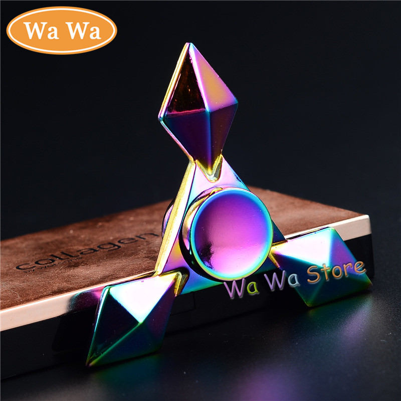 Rainbow Triangle Fidget Spinner Metal Finger Spinner Hand Spinner For Autism Adult Anti Relieve Stress Toy