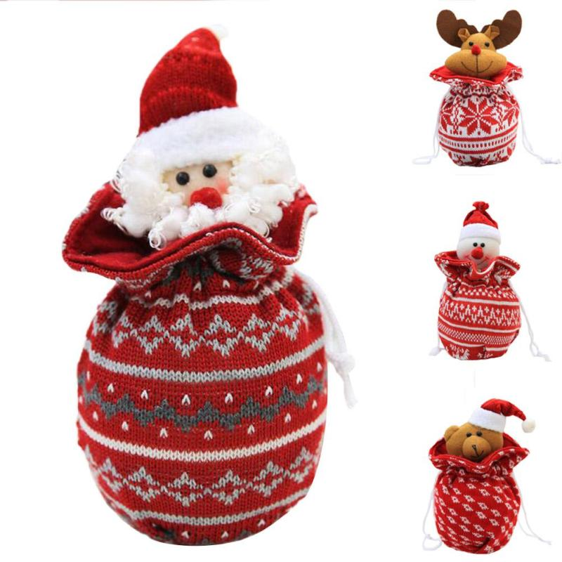 Cute 1pc Santa Claus Snowman Elk Bear Candy Gift Bag 4 Types New Christmas  Ornaments Xmas Supplies Candy Apple Biscuits Bag-in Stockings & Gift  Holders from ... - Cute 1pc Santa Claus Snowman Elk Bear Candy Gift Bag 4 Types New