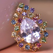 Surgical Steel Zircon Rhinestone Water Drop Navel Belly Button Ring Body Nipple Piercing Accessories Lingerie Body Jewelry Vaz