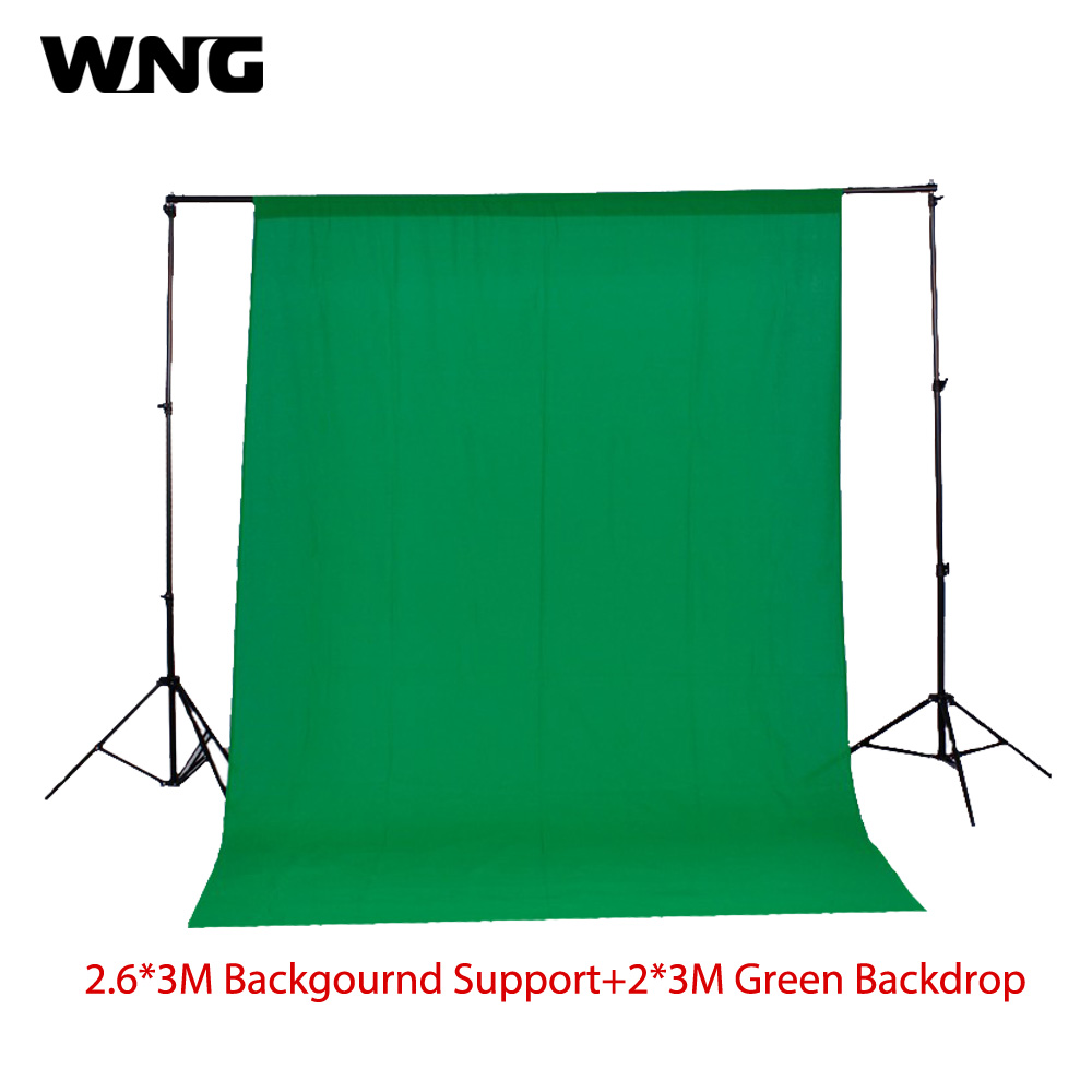 2.6m*3m/8.5ft*9.8ft Photo Background Backdrop Support System Stand +2m*3m Green Photo Backdrop 200cm 300cm grey background backdrop cloth with 2 6m 3m 8 5ft 9 8ft photo background backdrop stand support kit