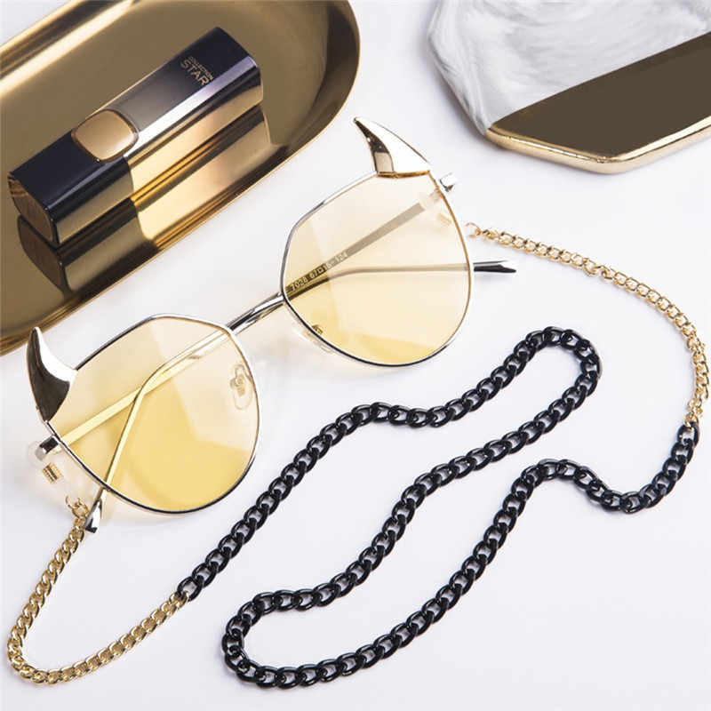 1pc Simple Classic 68cm Women Men Sunglasses Lanyard Strap Necklace Metal Eyeglass Glasses Chain Cord For Reading Glasses