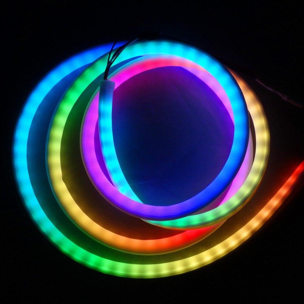 Led Strips 5m Dc5v Sk6812 Rgb Addressable Led Neon Pixel Light,rgb Full Color Lamp;60leds/m With 60pixels/m;waterproof In Milky White Tube Lights & Lighting