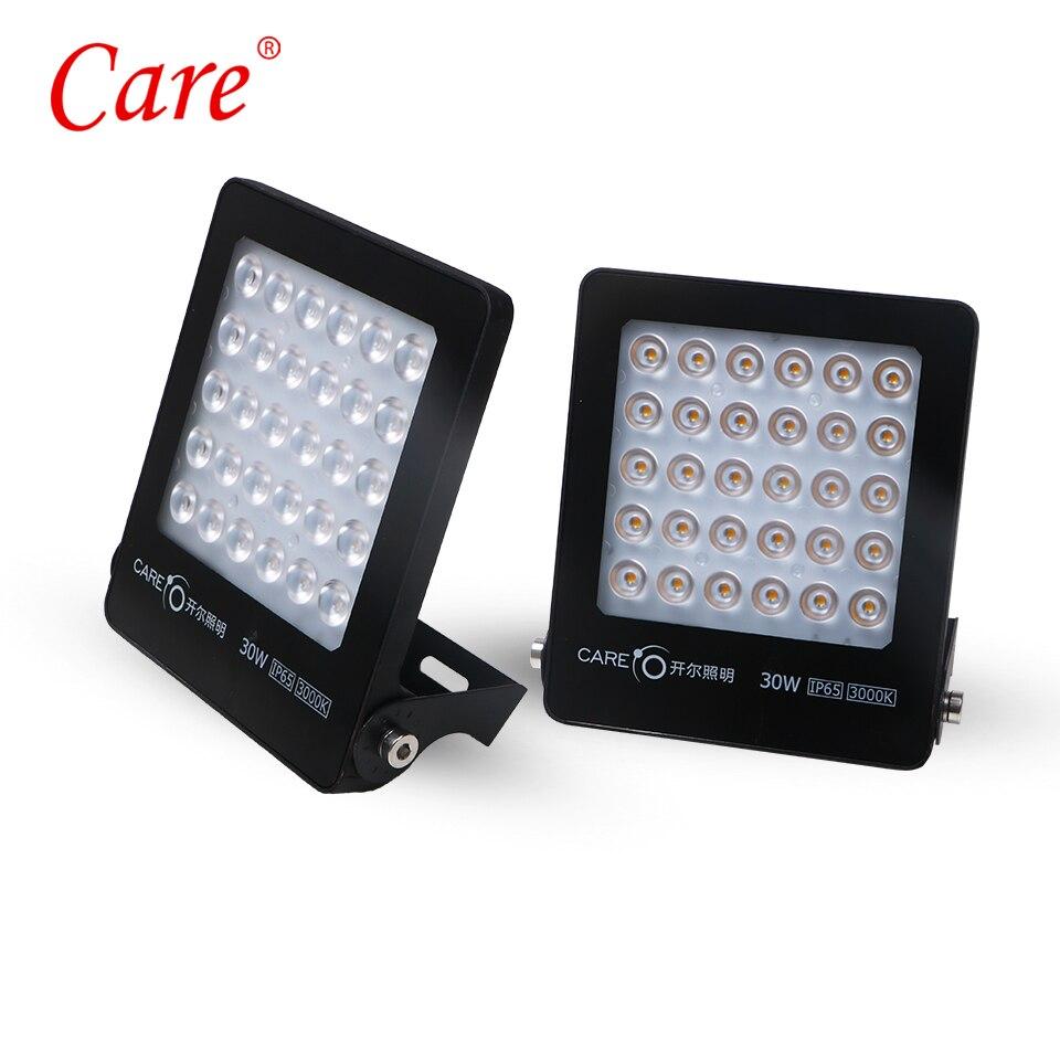 Care LED Outdoor Floodlight Reflector 30W 3000K/6500K IP65 LED Flood Light Garden Lamp LED Landscape Lighting Spot For Square стоимость