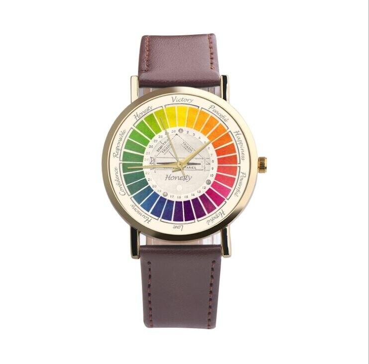 2018 Student Fashion Trend Math Dial Watch Casual Quartz Watch Men Women Sport Leather Wristwatch gift hour