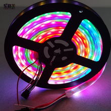 5m/lot DC5V WS2813(Dual-signal wires) individually addressable RGB led pixel strip 30/60/144leds/m 2811 ws2812b upgraded version