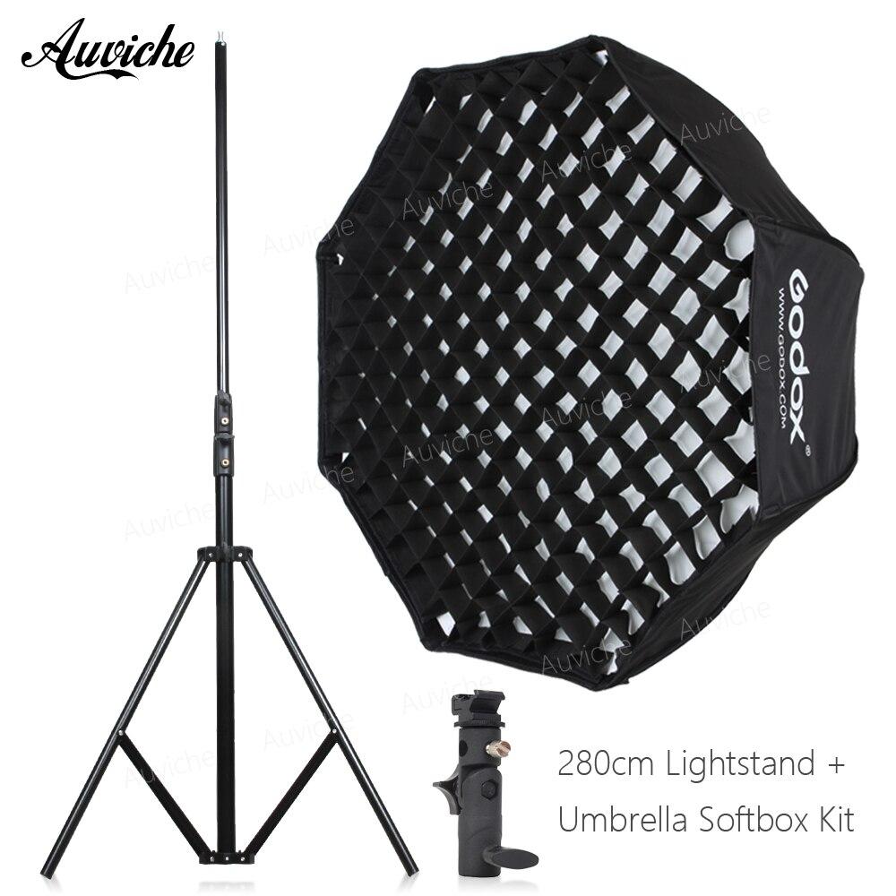 GODOX 120 см Вспышка Speedlight Octagon сотовые сети зонтик softbox для вспышки Вспышка Studio флэш Горячий башмак кронштейн
