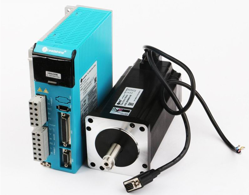 Nema34 8NM 1143oz.in Closed loop Stepper Motor Drive Kit ( HBS2206S+863HBM80H-1000 ) Hybrid Servo Leadshine 3-phase 2 phase 8 5n m closed loop stepper servo motor driver kit 86j18118ec 1000 2hss86h cnc machine motor driver