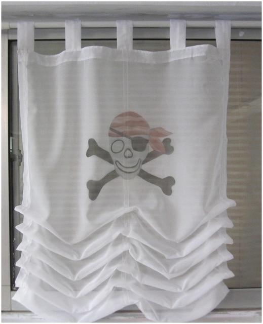 cool fashion niet mainstream stoffen piraat vouwgordijnen gordijn vensteronderzoek keuken gordijn transparante koffie gordijnen