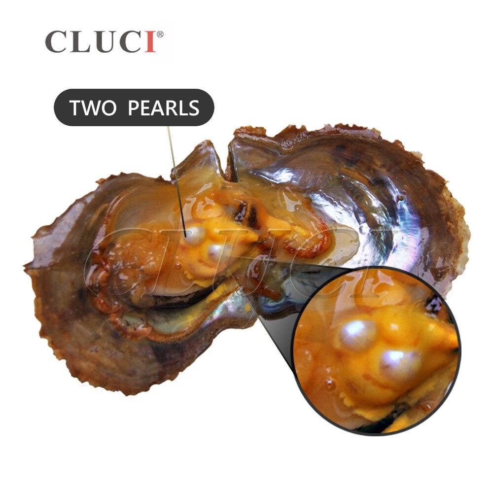 CLUCI 30 pièces 7-8mm Akoya Huîtres Perles Mélange 13 Couleurs Unique et Jumeaux Perles Huîtres Surprenant Partie Akoya Perle Huître - 4
