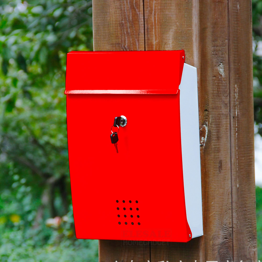 US $51.44 23% OFF|Wall Mounted Metal Mailbox House Apartment PO Box With  Keys Anti Rust Outdoor Storage Box Home Garden Decoration Box-in Mailboxes  ...