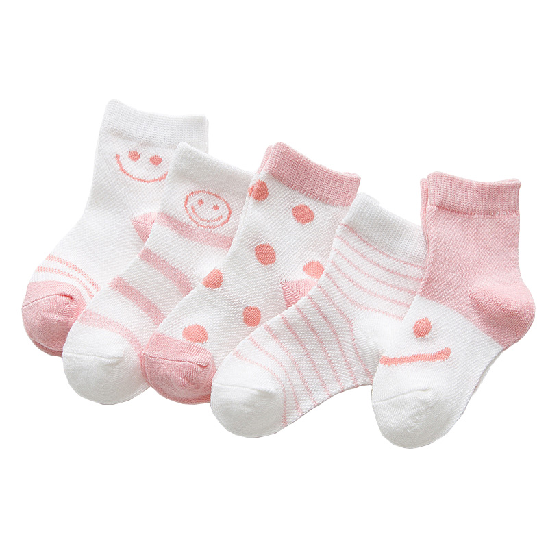 MAINEOUTH 5 Pares / lote Verano Cool Mesh Newborn Infant Baby Girl - Ropa de ninos