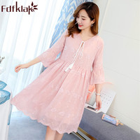 Summer Pregnancy Dress 2019 New Casual For Pregnant Dress Maternity Clothes Pink/White Maternity Dress Plus Size M XXL Fdfklak