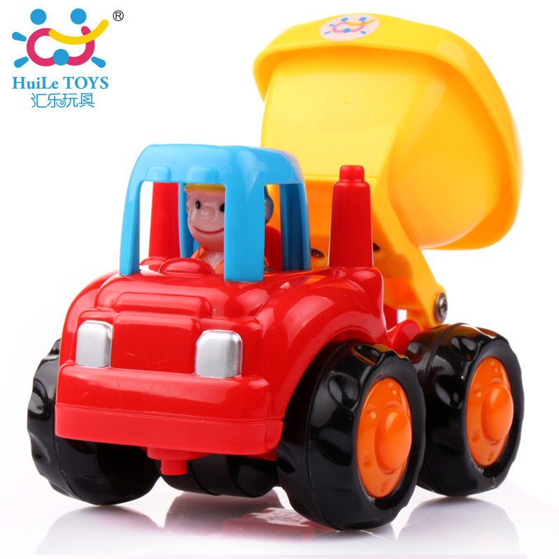 1PC HUILE TOYS 326C Baby Toys Vehicle Mini Dump Trucks Vehicles Toys Model Car for Kid Classic Boys Toy Xmas Gifts huile toys 3108 baby toys traveling picnic cooking suitcase toy included stove utensils plates toy meal bacon and eggs