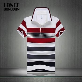 Offre spéciale 2019 été nouveauté hommes Polo mode bonne qualité classique rayé Homme Camisa manches courtes