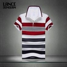 Хит продаж 2016 г. Новое поступление; Летнее Для мужчин Поло модная Хорошее качество Классический Полосатый Homme Camisa Рубашка с короткими рукавами