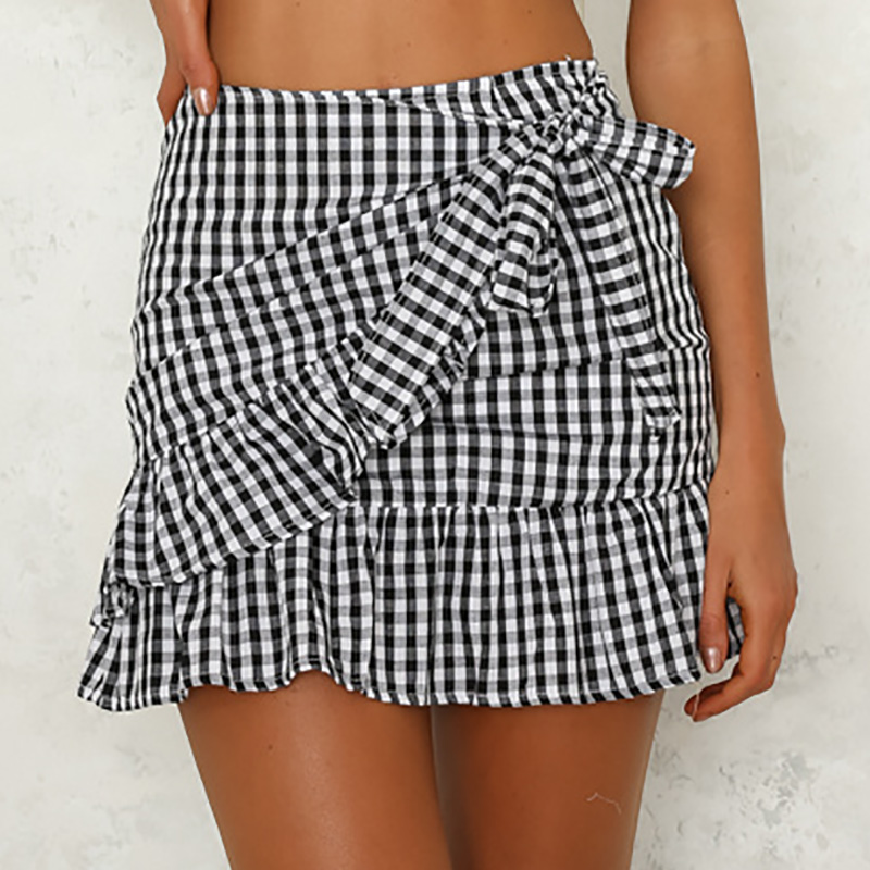 74f8ef935570f9 Buy ruffle plaid skirt and get free shipping on AliExpress.com