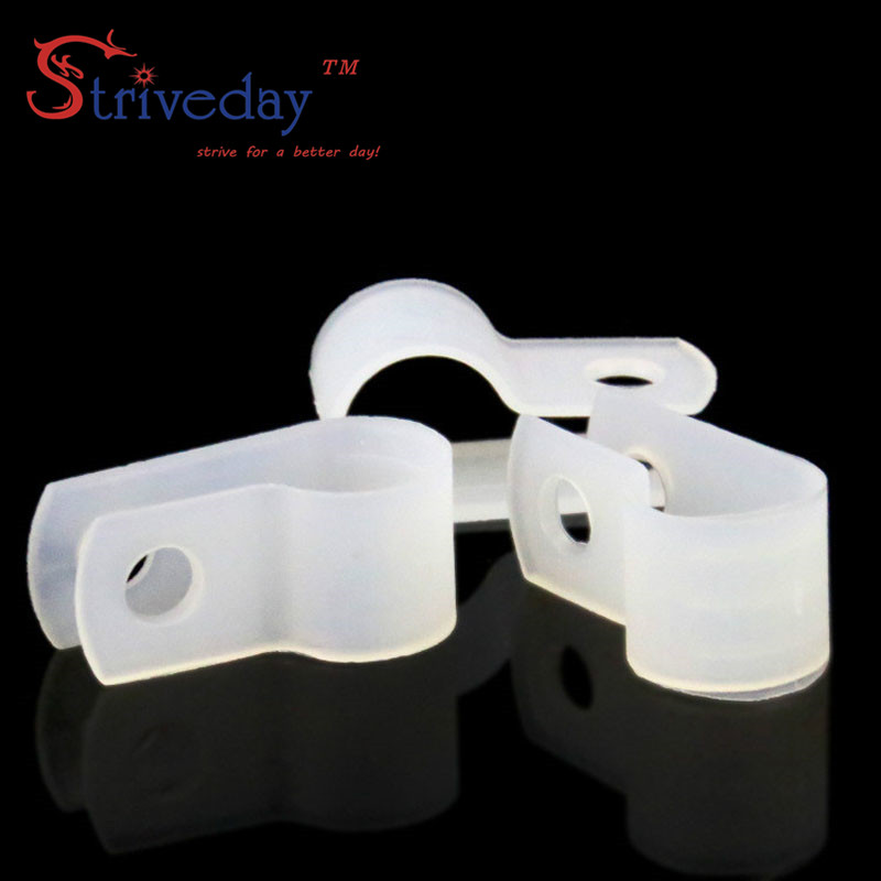 100pcs/bag White Type R Line Deduction Wiring Accessories Type R Line Card Clamps 8.4mm Cable Retention Clips