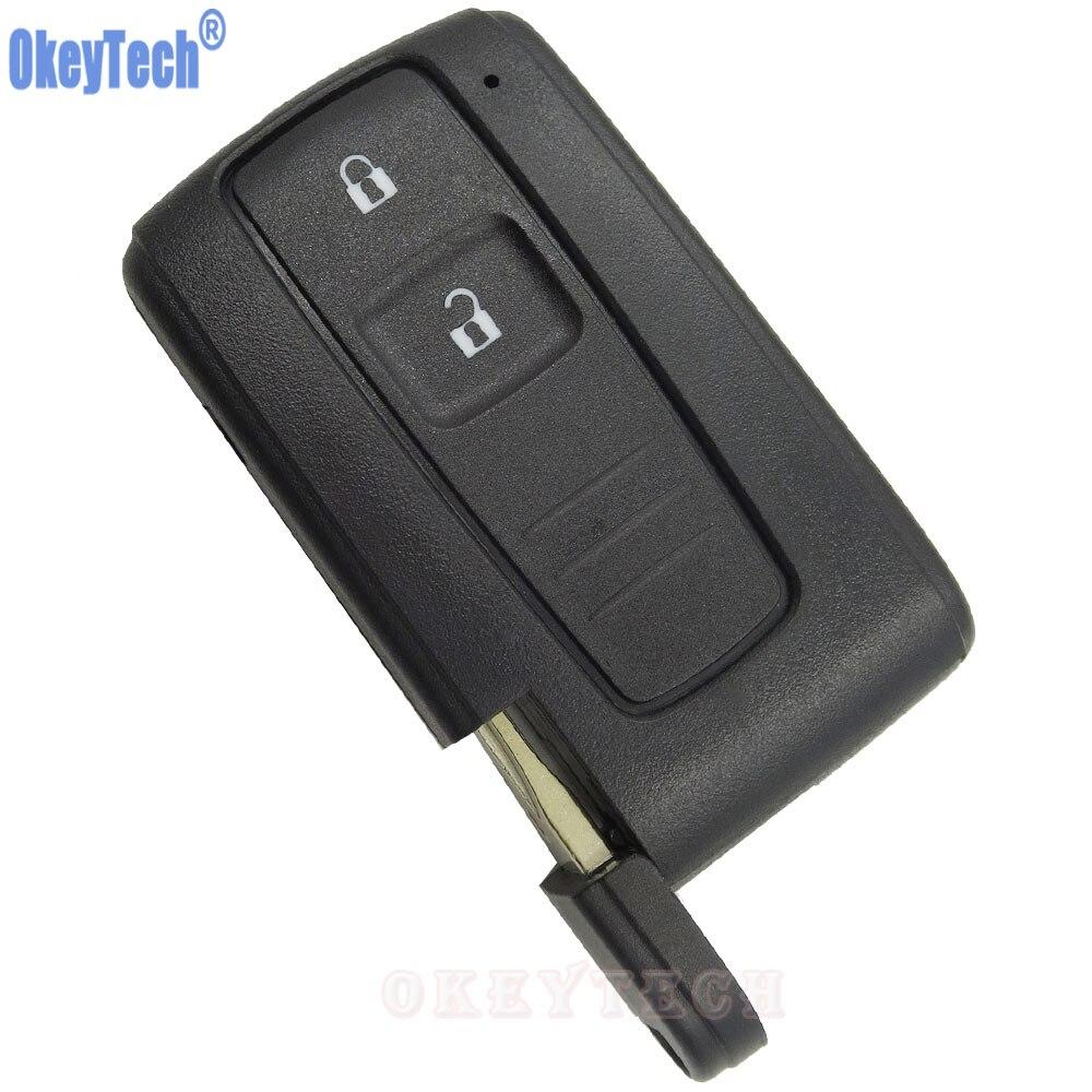 OkeyTech 2 Tasten Car Key Case Shell Fob Für Toyota PRIUS 2004-2009 COROLLA VERSO Camry Ersatz Smart-key-karte mit klinge