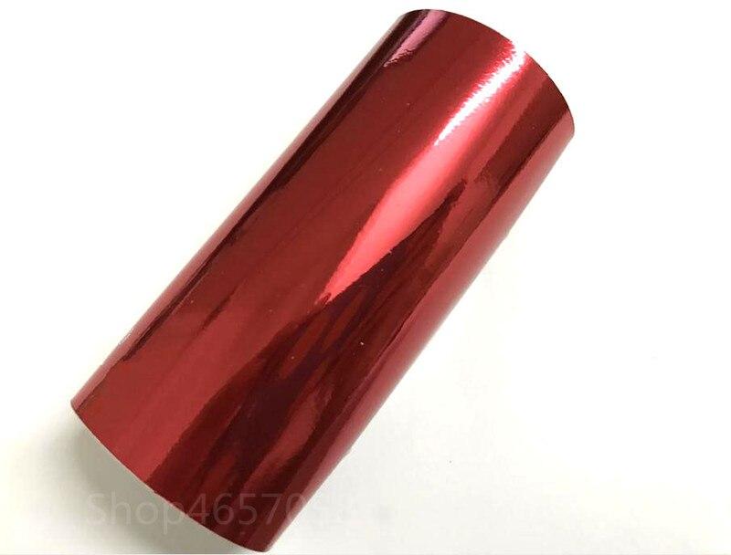 1.52*18 m rouleaux de vinyle voiture en gros autocollant de décoration Haute Extensible Miroir Rouge Chrome Vinyle Wrap