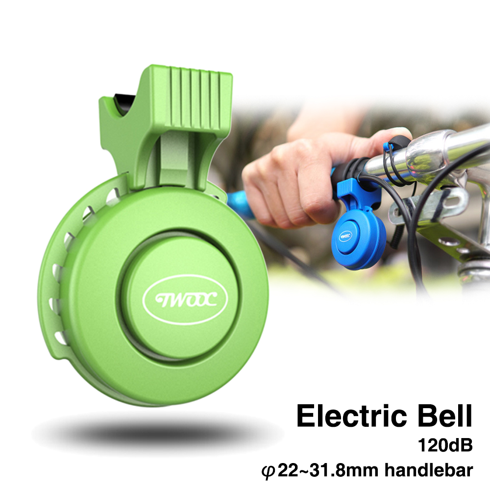 Bicycle Electronic Bells 120dB Waterproof USB loud Sounds for 22.2-31.8 Handlebar Electric Road Bike Bell Ring for mijia MTB MI