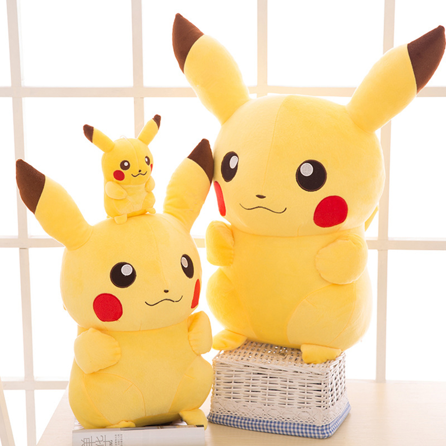 110cm Big Pikachu Plush Toys Kid Gift Anime Peluche Kawaii Doll Cute Cartoon Soft Stuffed Toy Pocket Monster Children 50T0550 2016new brand cartoon beanie monsters sulley mike inc sullivan sully plush hat cute cap soft kid toy birthday gift for children