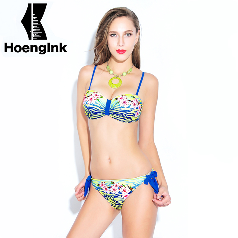 2018 Brandman Chest Plastic Bikini Sexy Floral Print Two Piece Beach Bikini Spa Swimming ...