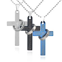 fb141cfbe70e OBSEDE High Quality Men s Jewelry Alloy Bible Cross Circle Pendant Necklace  Chain Fine Jewelry for Women