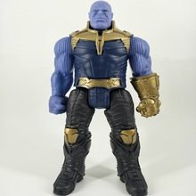 30cm Marvel Flashing Sound Avengers Infinity War Thanos Spiderman Hulk Iron Man Captain America Action Figure Toys Dolls avengers infinity war thanos hulk black panther spiderman captain america iron man action figure marvel collectible model toys