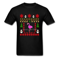 2017 Hot Flamingo T Shirt Pp Clothes Cotton Plus Size Short Sleeve Custom Christmas Gift T