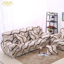 ROMORUS Stripe Tight All-inclusive Sofa Couch Covers Stretch Elastic Wrap Entire Slipcover Single/Two/Three/Four-seat Sofa Cover
