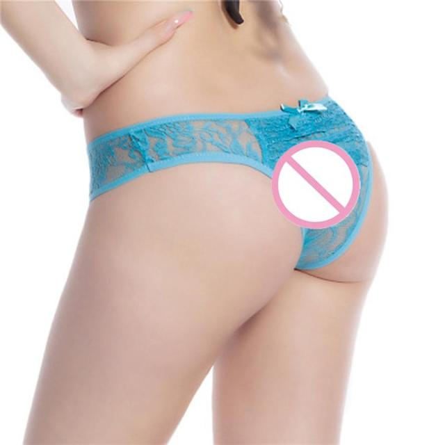 353417d83 Women Open Crotch Crotchless Panties Thong V-string Lingerie Underwear