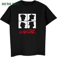 Estate Music Band Gorillaz T-Shirt In Cotone Magliette E Camicette Magliette Uomini Manica Corta Ragazzo Casual Homme T Shirt Moda Streetwear Hip Hop