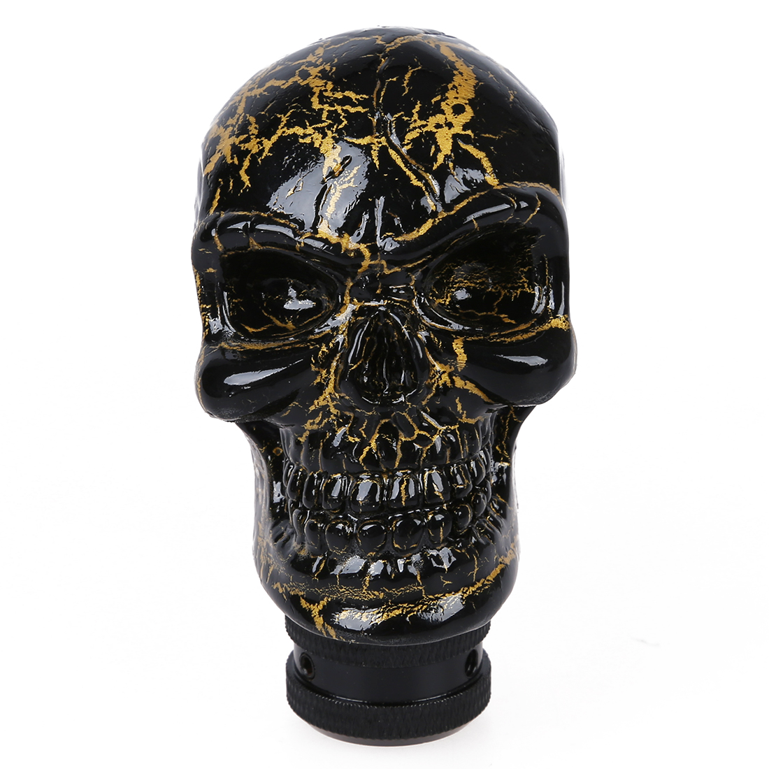Auto Car Black Gold Tone Skull Head Style Ceramic Gear ...