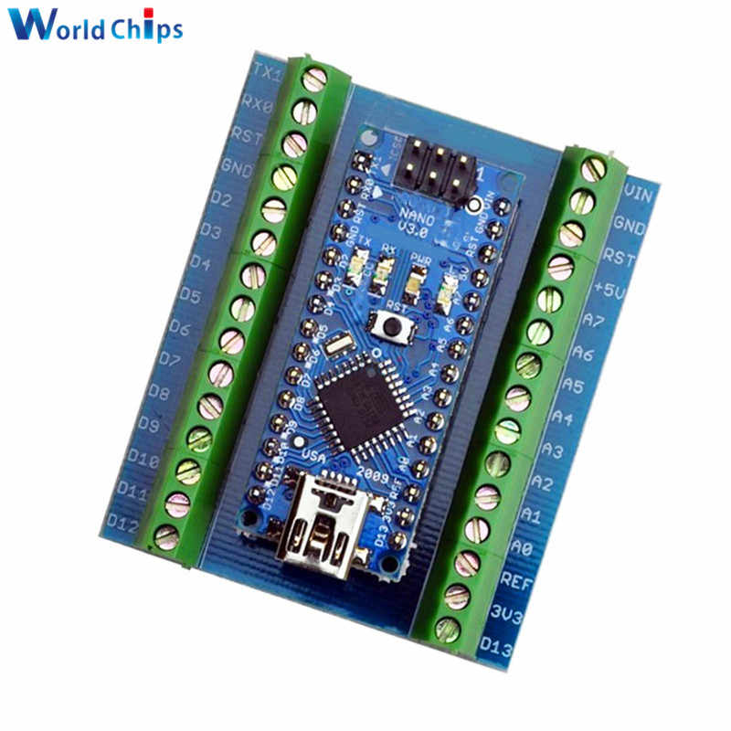 ATMEGA328 Atmega328P Nano V3.0 3.0 Bộ Điều Khiển CH340G CH340 Lái Xe Nhà Ga Adapter Mở Rộng Mô-đun Cho Arduino Nano IO