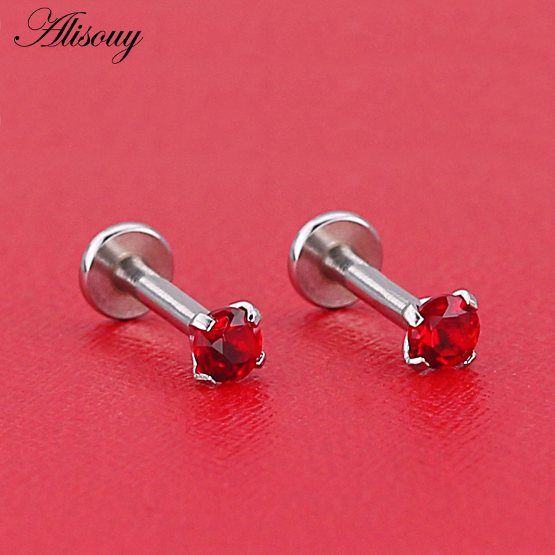 HTB1L6PyMMHqK1RjSZFPq6AwapXab - Alisouy 1pc Surgical Steel Ear Cartilage Tragus Helix Piercing Labret Lip Studs Ring Internally Thread 16g 6/8/10mm Body Jewelry