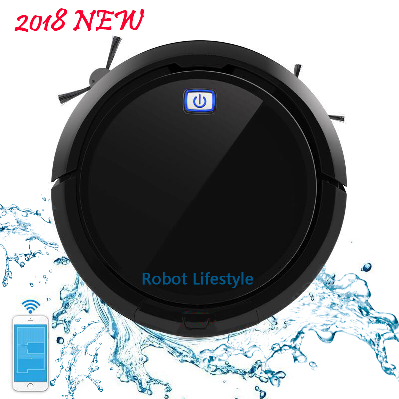 цена на 2018 New Robot Vacuum Cleaner QQ9 upgrade from QQ6,Map Navigation,Smart Memory,Wet & Dry,Robot aspirador ship from Russia Spain