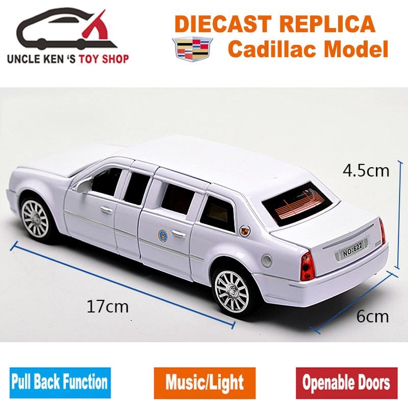 18CM Diecast Cadillac Presidential Limousine Scale Model, Metal - Bilar och fordon - Foto 3