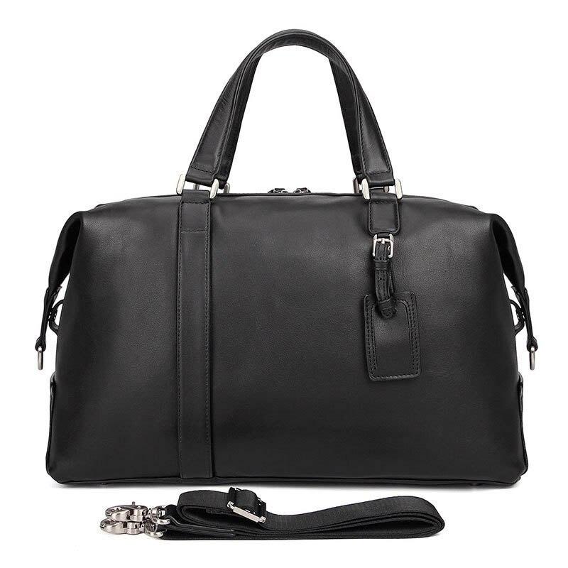 Модная многофункциональная Дорожная сумка из натуральной кожи, мужская кожаная сумка для багажа, дорожная сумка большой вместимости, сумка