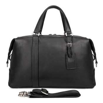 genuine leather travel duffel bag men packing cubes travel luggage organizer large capacity leather travel handbag weekend bag Fashion Genuine Leather Multi-Function Travel Bag Men's Leather Luggage Travel Bag Large-Capacity Handbag Weekend Package