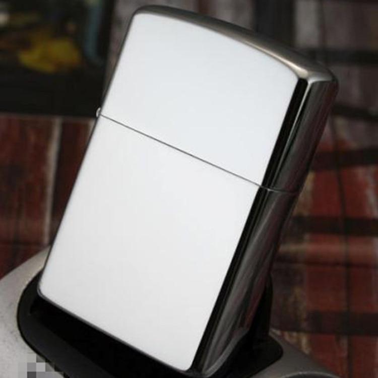 1pc Retro Matte White Metal Torch Lighter Inflatable Kerosene Oil Butane Gas Cigarette Jet Lighter Smoking Tools Gadgets For Men