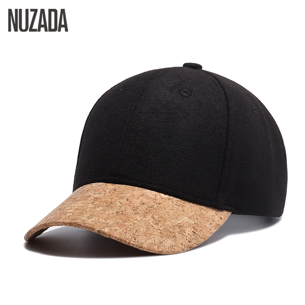 Brand NUZADA High Quality Snapback Wool 54% Women Men Baseball Cap Bone Leisure Hats Hip Hop Spring Summer Autumn Winter Caps