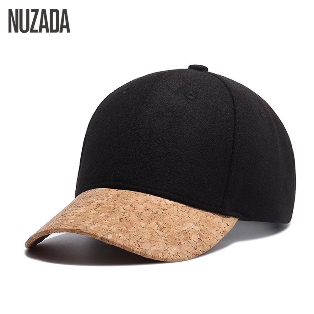 Brand NUZADA Winter Hat For Men Women   Baseball     Cap   Snapback Bone Leisure Hip Hop Hats Wool 54% Spring Summer Autumn Winter   Caps