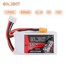 GOLDBAT 650mAh LiPo батарея для FPV 3S LiPo батарея LiPo 11,1 V 3S lipo 75C с разъемом XT30 для дрона Heli Автомобильная лодка