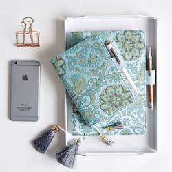 Vintage Floral Art Fashion Delicate Cloth Cover Hobonichi Style Journal Cover A5 A6 Suit For Standard A5/A6 Fitted Paper Book