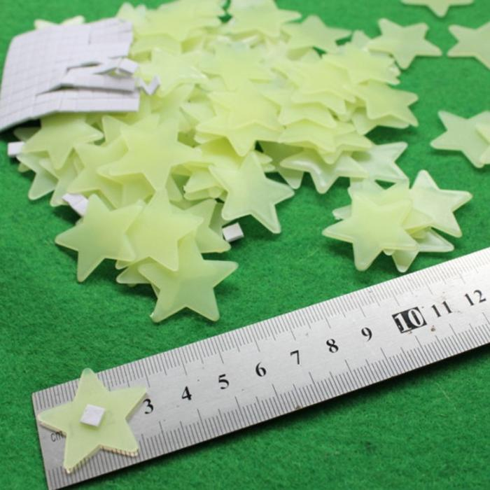 HTB1L6QlLXXXXXamXXXXq6xXFXXXe - 100pcs DIY Wall Decals Glow Stars Luminous Fluorescent Wall Stickers for Kids Room