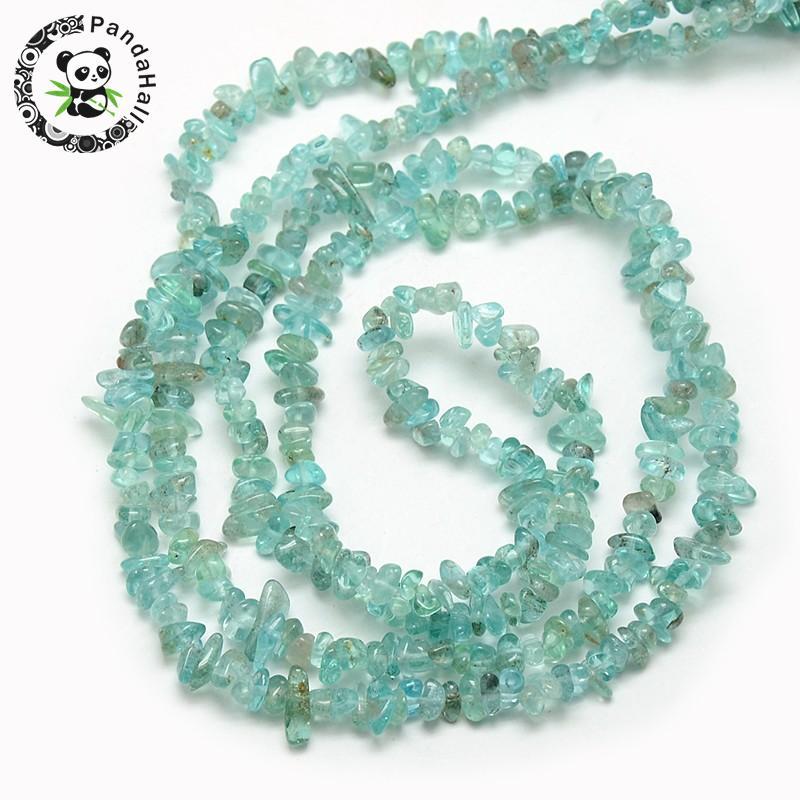 """Brins naturels de perles de puce d'apatite, 3 ~ 5x3 ~ 5mm, trou: 1mm; environ 32""""-in Perles from Bijoux et Accessoires    3"""